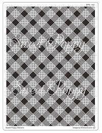 Sweet Poppy Stencil: Plaid Back plate