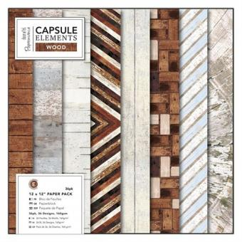 Capsule Collection - Elements Wood 12x12""