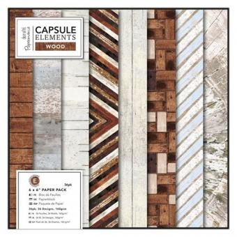 Capsule Collection - Elements Wood 6x6""