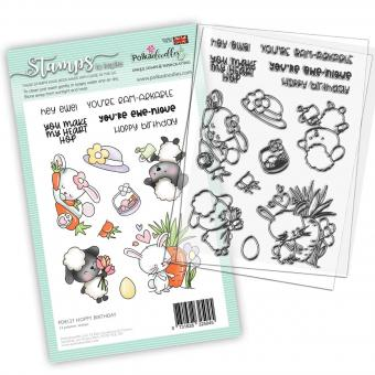 Polkadoodles Hoppy Birthday Clear Stamps