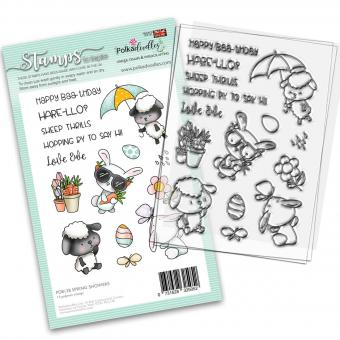 Polkadoodles Spring Showers Clear Stamps
