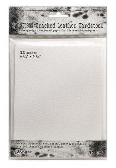 """Ranger Distress Cracked Leather Paper 4.25x5.5"""""""