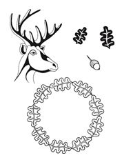 Claritystamp - Oak & Deer + MASK