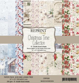 Reprint Christmas Time 12x12 Inch Paper Pack
