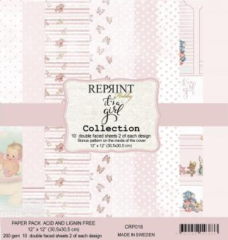 Reprint It´s a Girl Collection 12x12 Inch Paper Pack