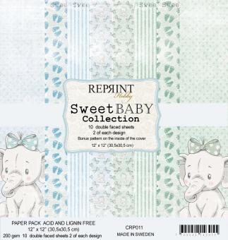 Reprint Sweet Baby Blue 12x12 Inch Paper Pack