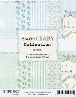 Reprint Sweet Baby Blue 6x6 Inch Paper Pack