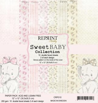 Reprint Sweet Baby Pink 12x12 Inch Paper Pack