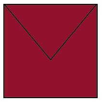 Umschlag 164 x 164 mm - Rosso