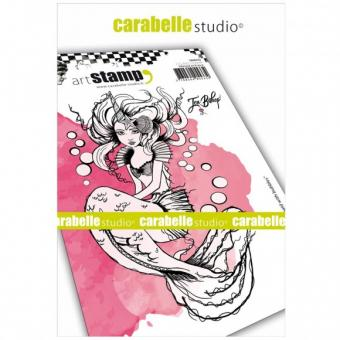 Carabelle cling stamp A6 mermaid with bubbles