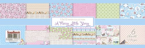 """Paper Collection Set 12""""*12"""" A Furry Little Story"""