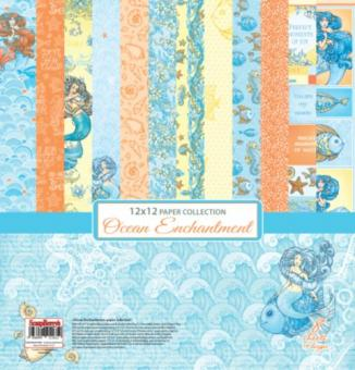 "Paper Collection Set 12""*12"" Ocean Enchantment"