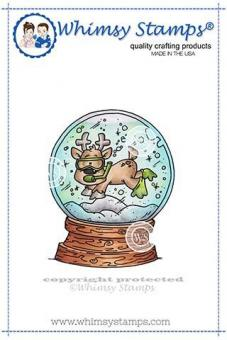 Whimsy Stamps - Scuba Deer Rubber Cling Stamp
