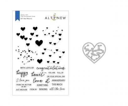 Altenew -All the Hearts Stamp & Die Bundle