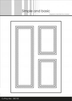 Simple and Basic A6 Card Front #3 Cutting Dies