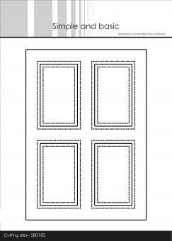 Simple and Basic A6 Card Front #4 Cutting Dies