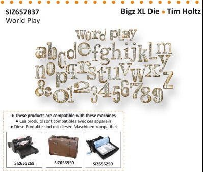Word Play Alphabet - Tim Holtz