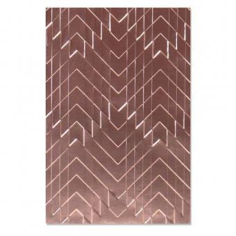 Sizzix 3-D Textured Impressions Emb. Folder - Staggered Chevrons