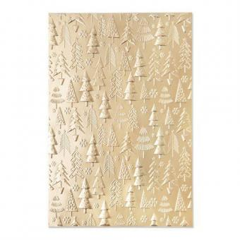 Sizzix 3-D Textured Impressions Embossing Folder Christmas Tree