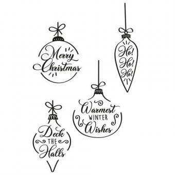 Sizzix Clear Stamps Set 4PK - Christmas Baubles