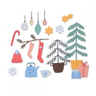 Sizzix Thinlits Die Set - 22PK Christmas Cheer