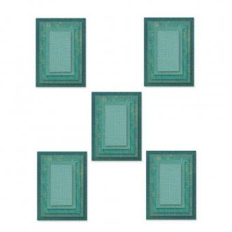 Sizzix Thinlits Die Set 25PK - Stacked Tiles, Rectangles
