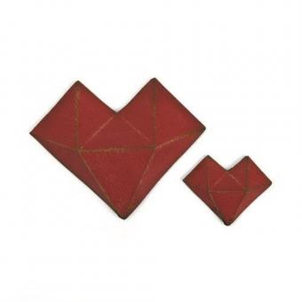 Sizzix Thinlits Die Set - 2PK Faceted Heart