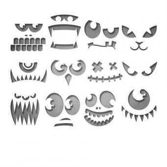 Sizzix Thinlits Die set - Frightening Faces