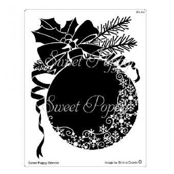 Sweet Poppy Stencil: Christmas Snowflake Bauble
