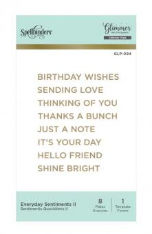 Spellbinders Everyday Sentiments II Hot Foil Plate