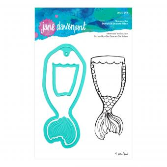 Spellbinders Mermaid Tail Swatch Stamp & Die Set