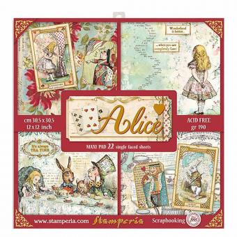 "Stamperia 12x12"" - Alice  Paper Pack"