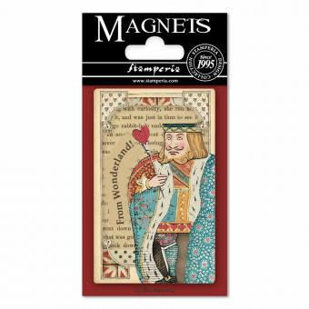 Stamperia Magnet  - Alice King of Hearts