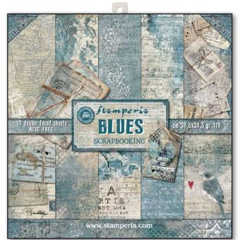 "Stamperia 12""X12"" -Blues"