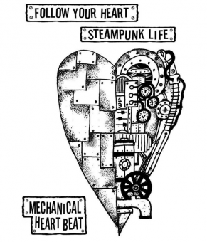 Stamperia Natural Rubber Stamps Mechanical Heart