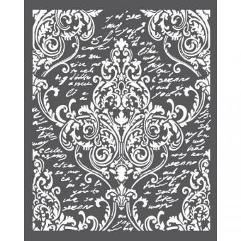 Stamperia Thick Stencil Decoration with Writings
