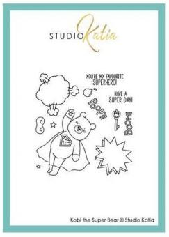 Katia Studio -  KOBI THE SUPER BEAR | STAMP SET