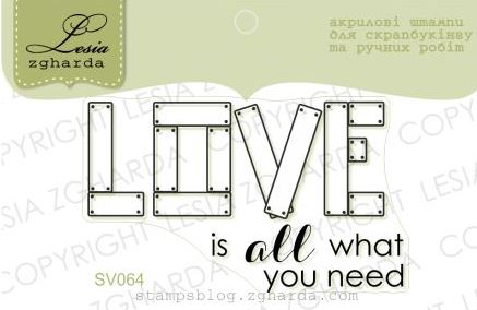 "Stamp ""Love is all..."""
