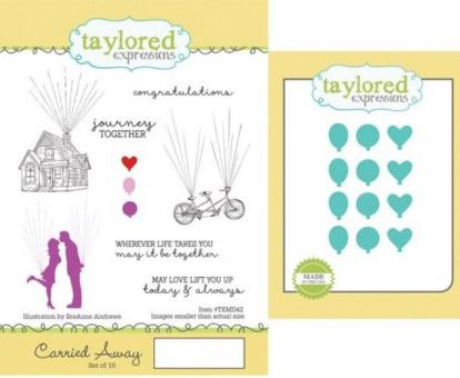 Taylored Expressions Carried Away Stamp & Die Combo