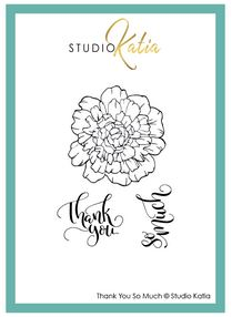 Katia Studio -  Thank You So Much | Clear Stamp Set