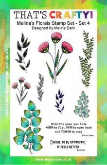 That's Crafty! Clearstamp A5 - Melina's Florals Set 4