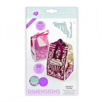 Tonic Studios Die - sweet treat dimensions - cupcake and treat box
