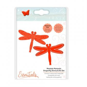 Tonic Studios mandala moments - dragonfly stamp & die set